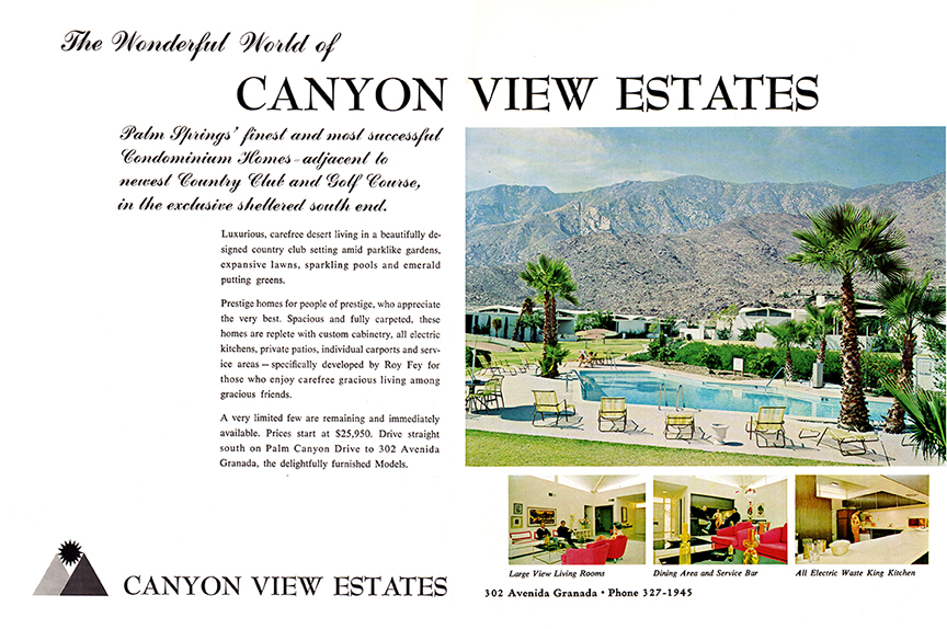 Desert Sun Ad, 1965 (showing HOA#4 pool)